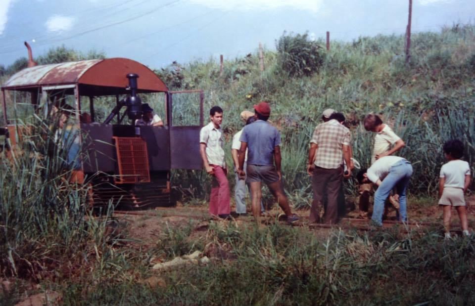 1a viagem de inspeção na linha no retorno a estação de Anhumas.